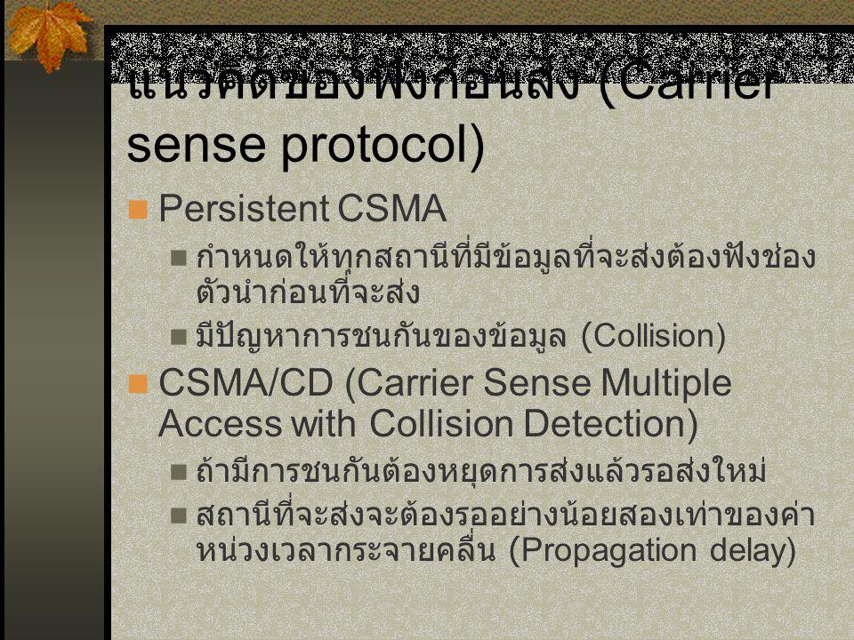 แนวคิดของฟังก่อนส่ง (Carrier sense protocol)