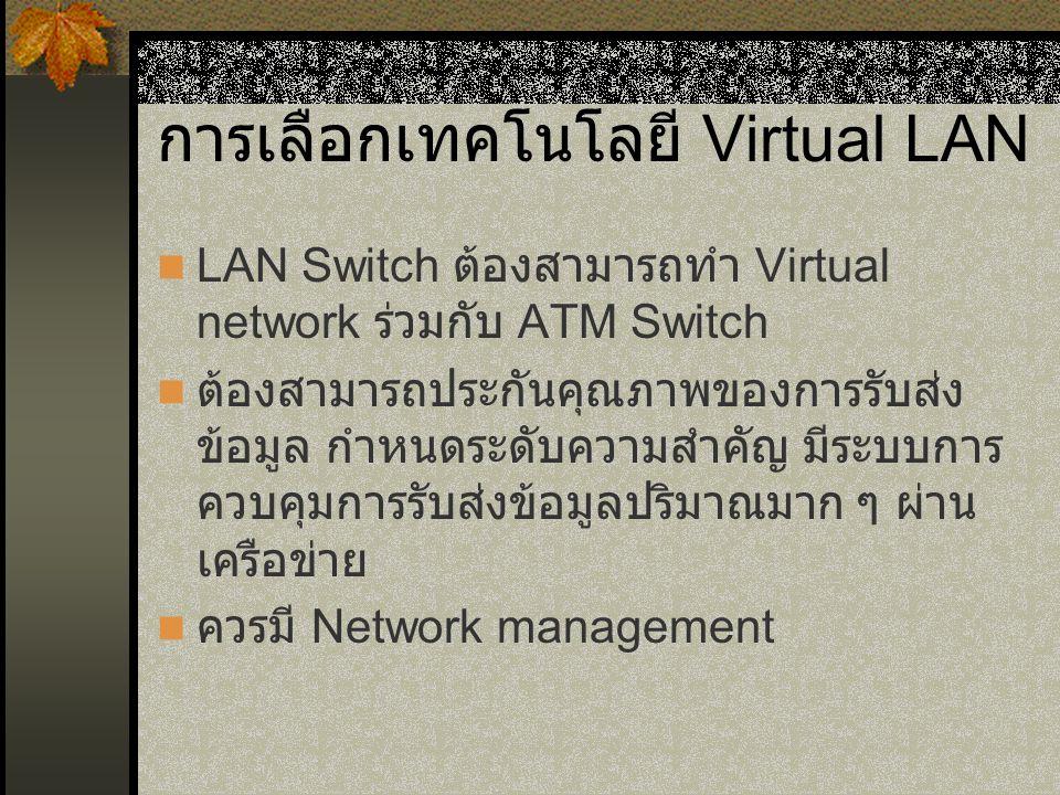 การเลือกเทคโนโลยี Virtual LAN
