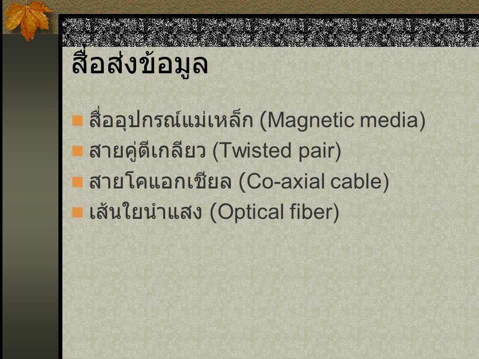 สื่อส่งข้อมูล สื่ออุปกรณ์แม่เหล็ก (Magnetic media)
