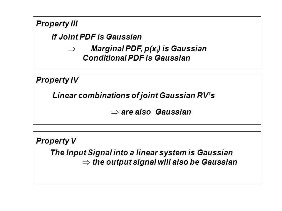  Marginal PDF, p(xi) is Gaussian