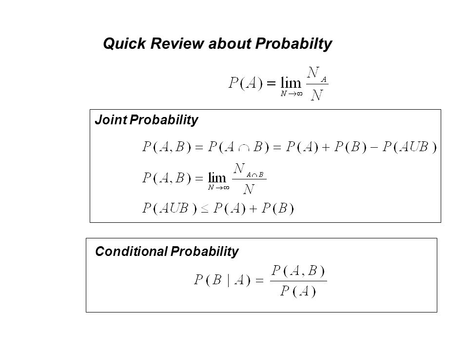 Quick Review about Probabilty