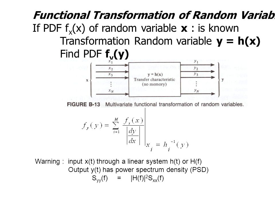 Functional Transformation of Random Variables