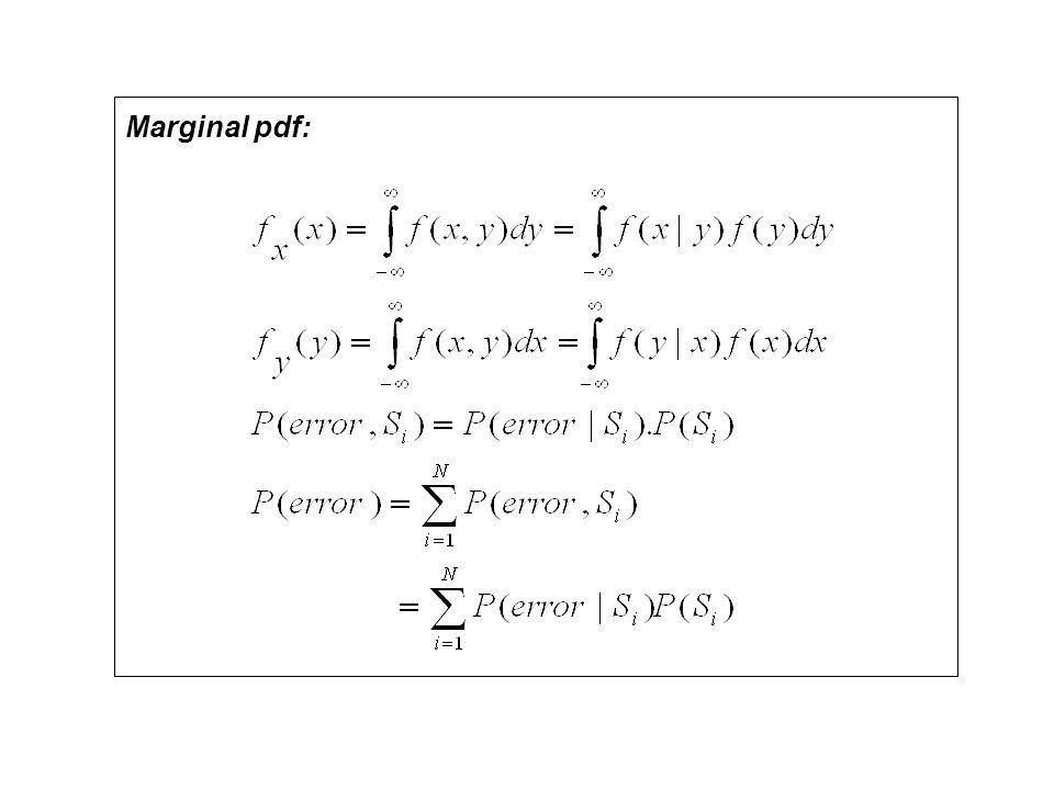 Marginal pdf: