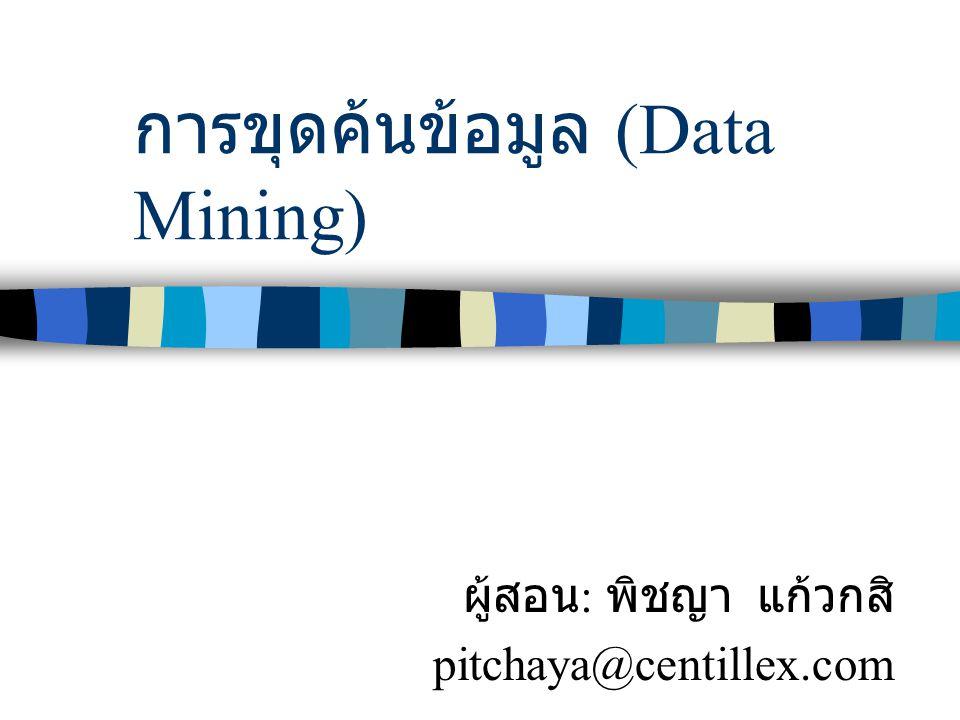 การขุดค้นข้อมูล (Data Mining)