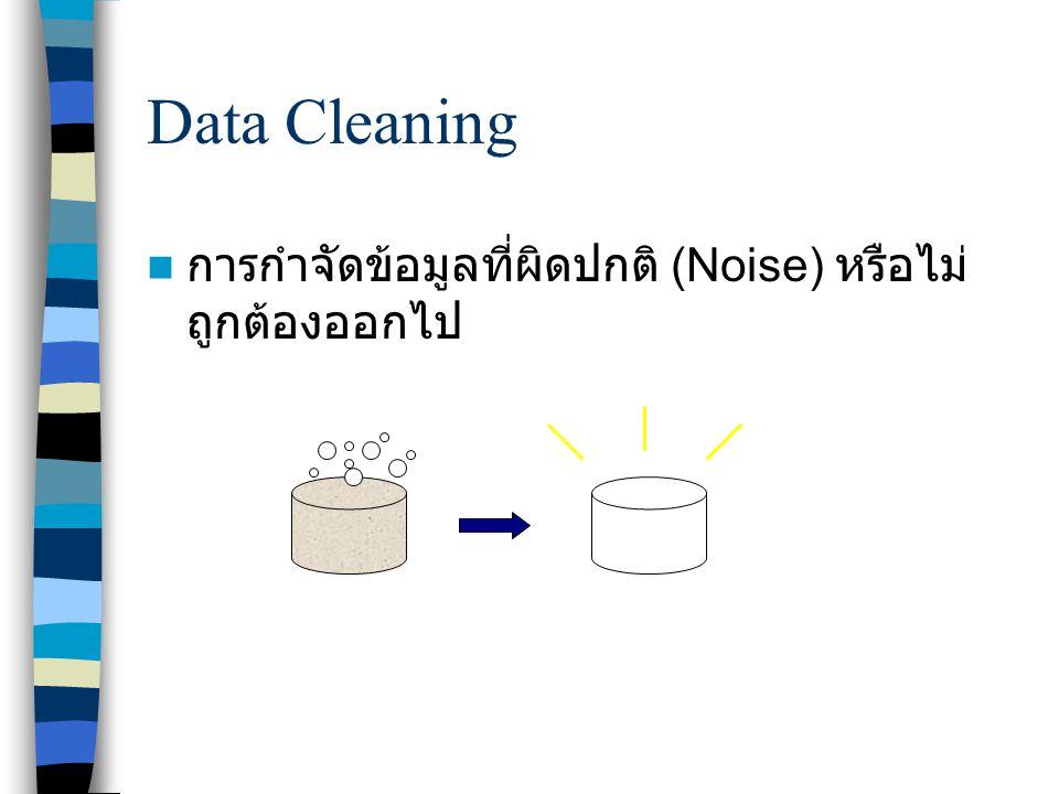 Data Cleaning การกำจัดข้อมูลที่ผิดปกติ (Noise) หรือไม่ถูกต้องออกไป