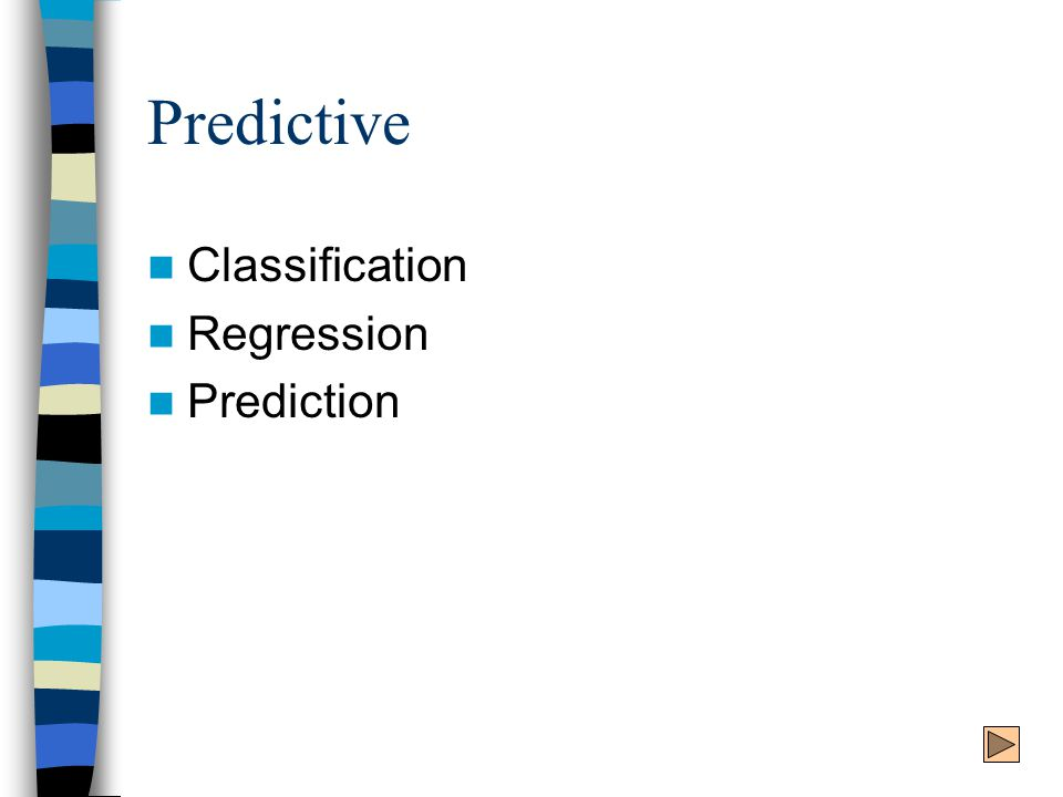 Predictive Classification Regression Prediction