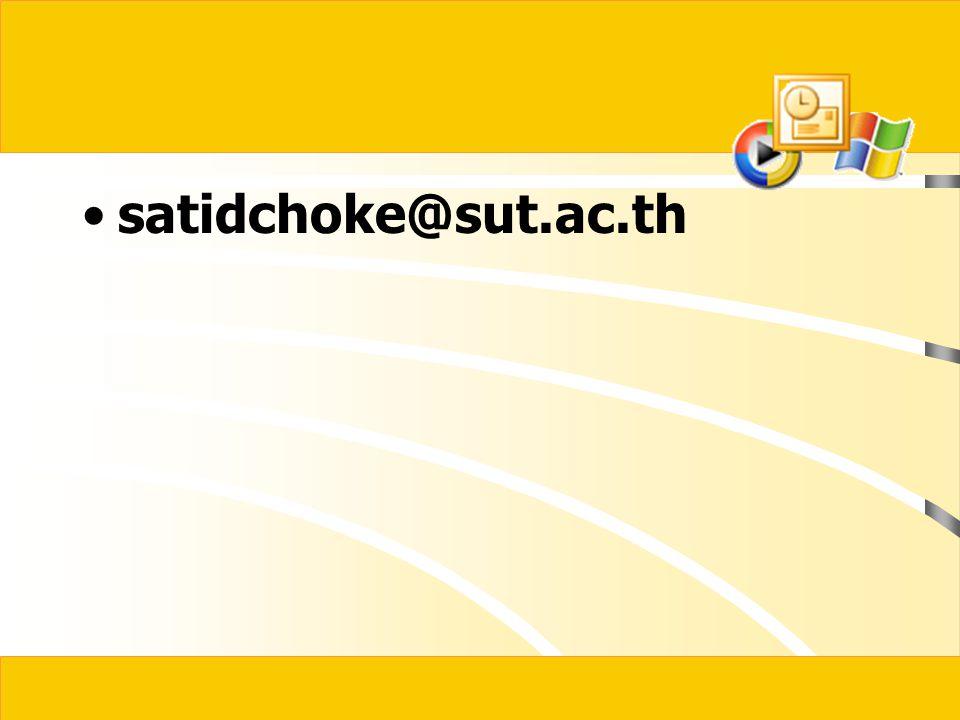 satidchoke@sut.ac.th