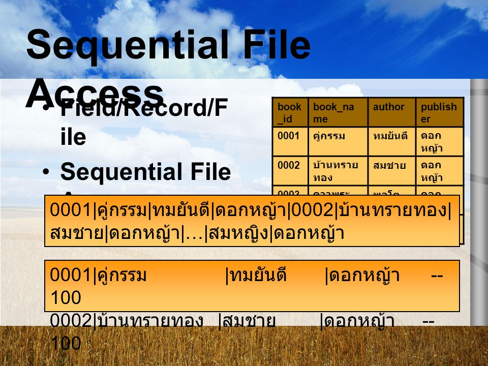 Sequential File Access