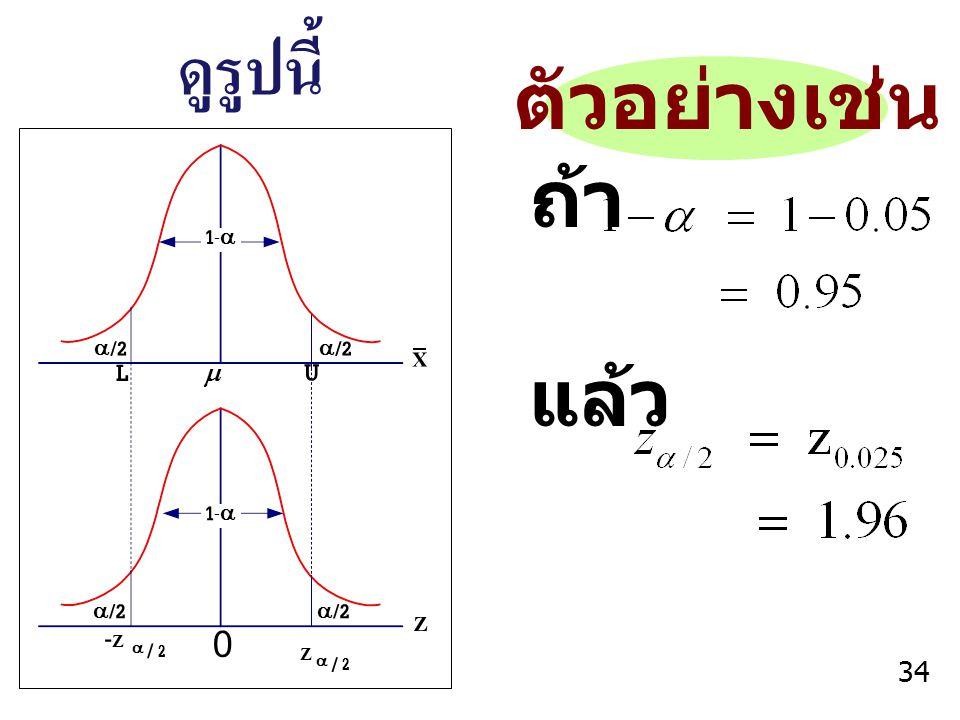 ดูรูปนี้ ตัวอย่างเช่น ถ้า แล้ว a/2 m L U 1-a -Z a / 2 Z a / 2 Z X 34