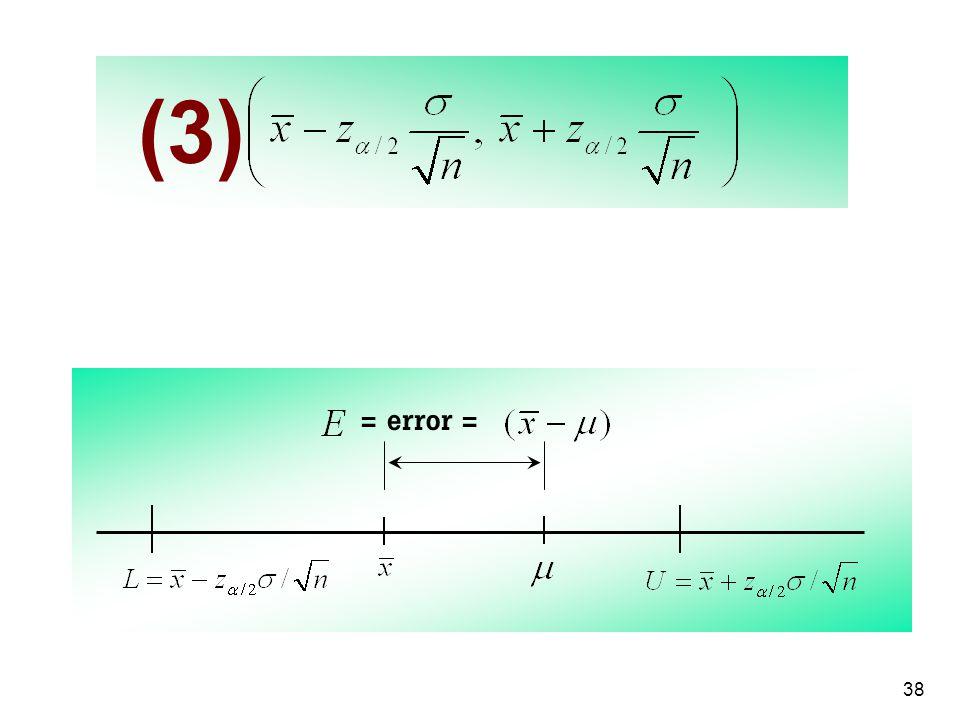 (3) = error =