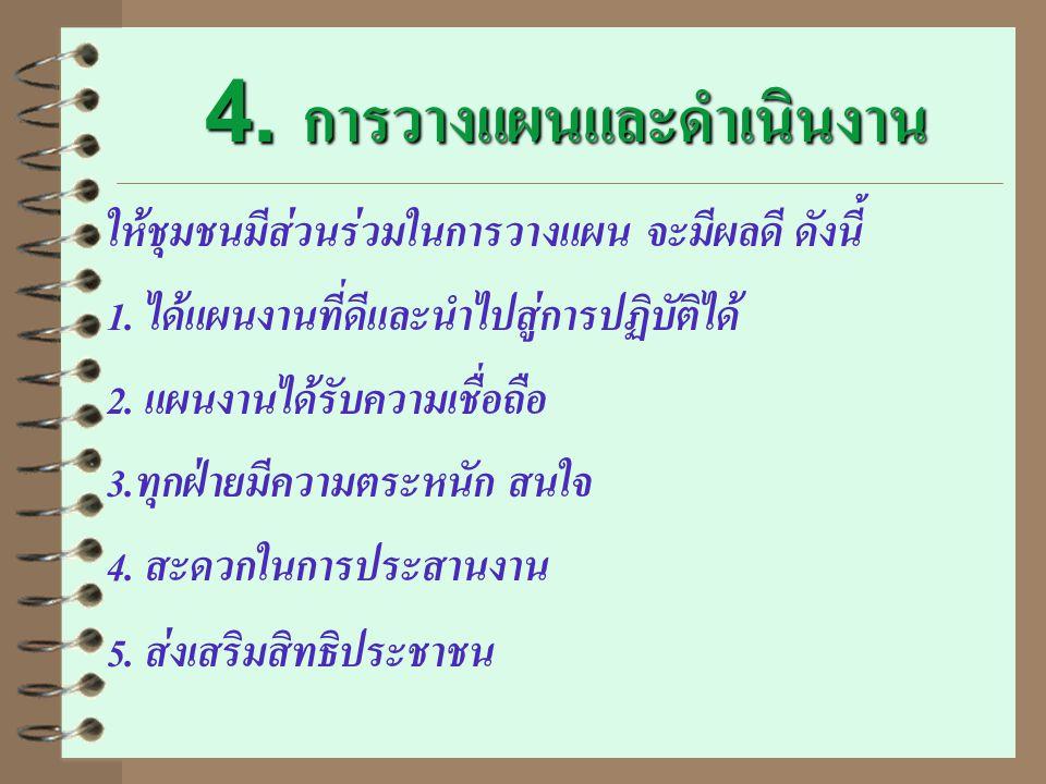 4. การวางแผนและดำเนินงาน