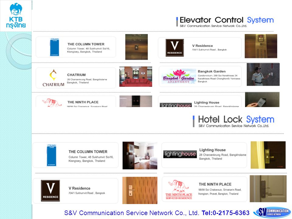 S&V Communication Service Network Co., Ltd. Tel:0-2175-6363