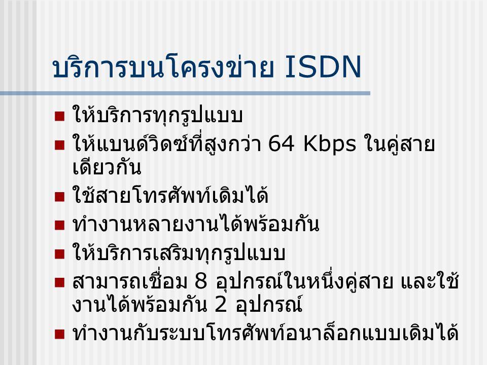 บริการบนโครงข่าย ISDN