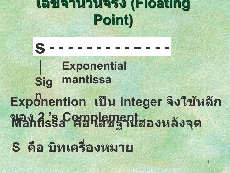 เลขจำนวนจริง (Floating Point)