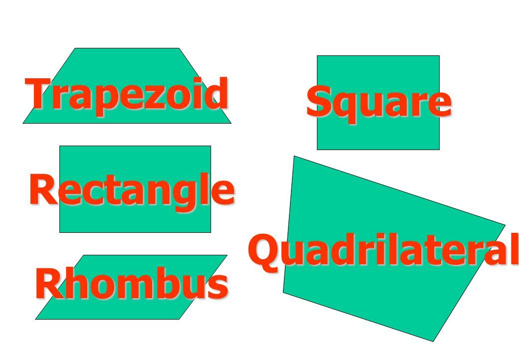 Trapezoid Square Rectangle Quadrilateral Rhombus