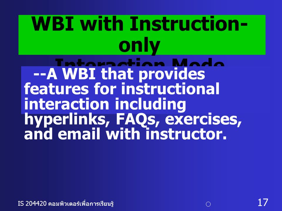 WBI with Instruction-only
