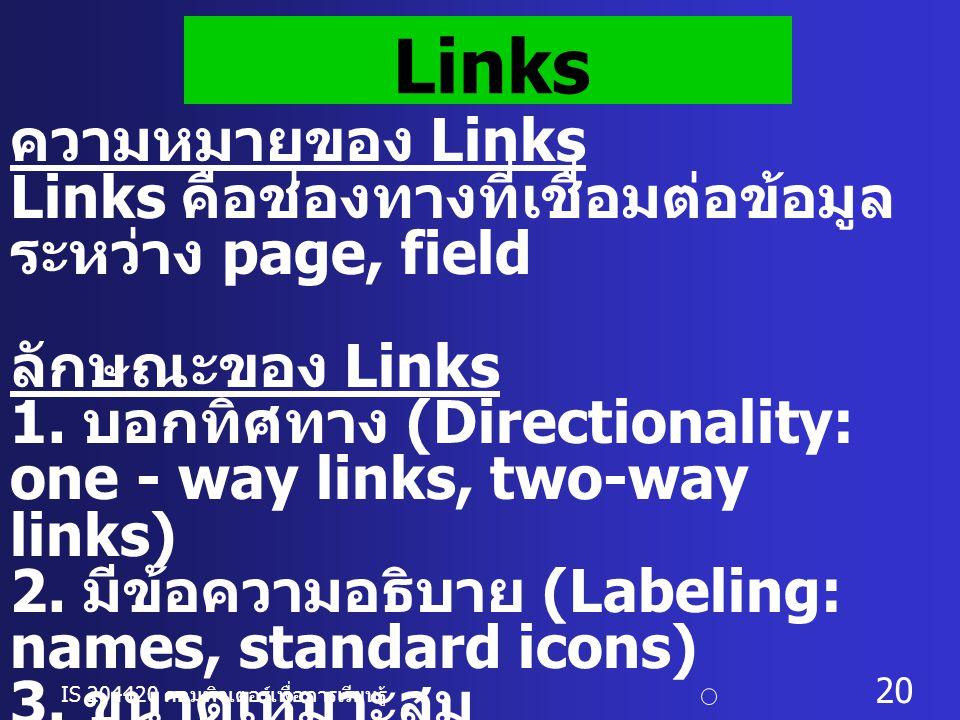 Links ความหมายของ Links