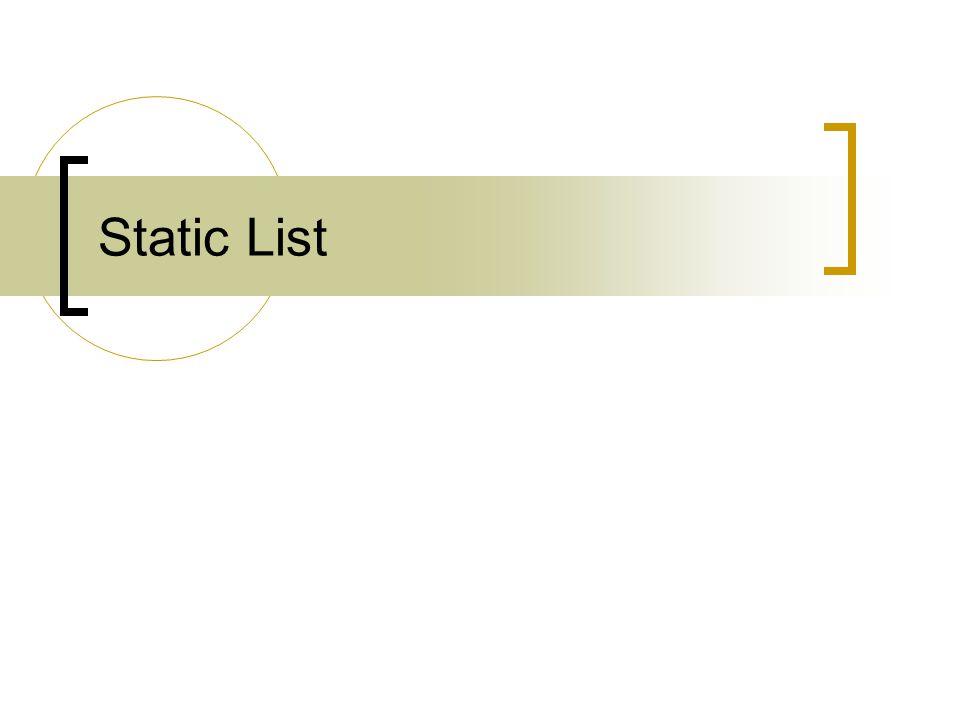 Static List