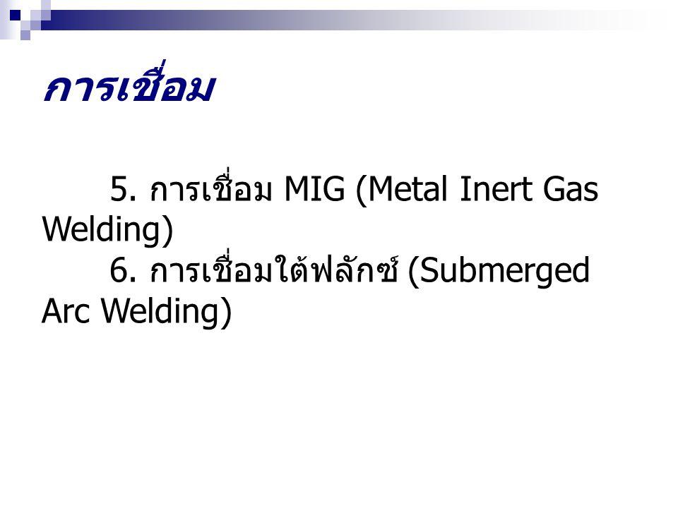การเชื่อม 5. การเชื่อม MIG (Metal Inert Gas Welding)