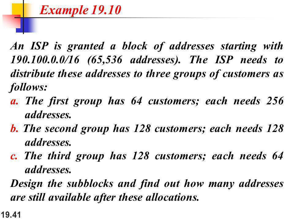 Example 19.10