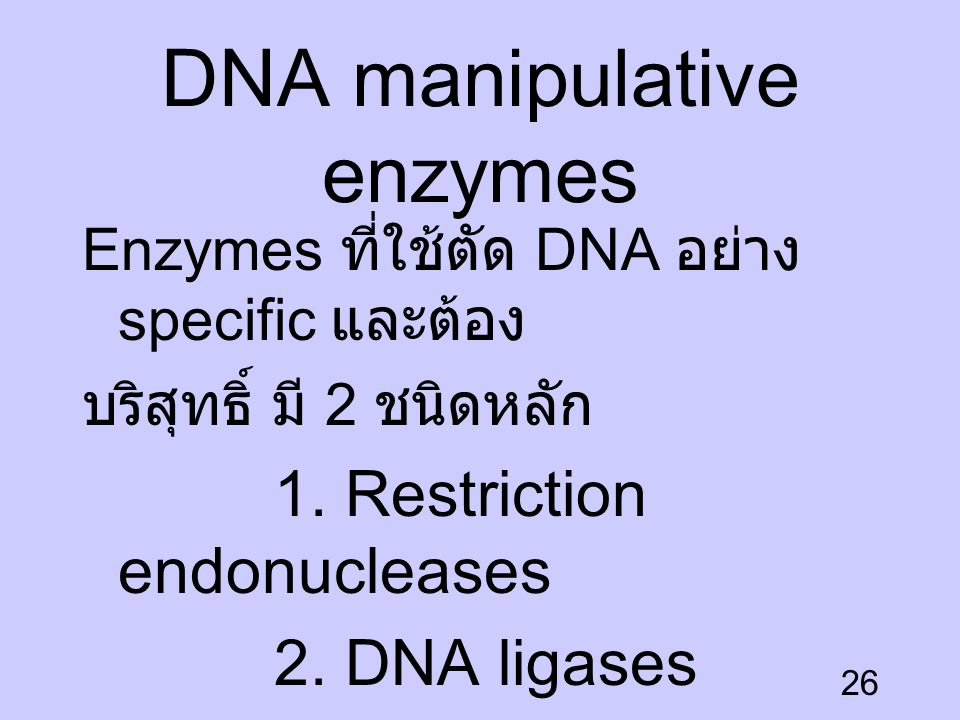 DNA manipulative enzymes
