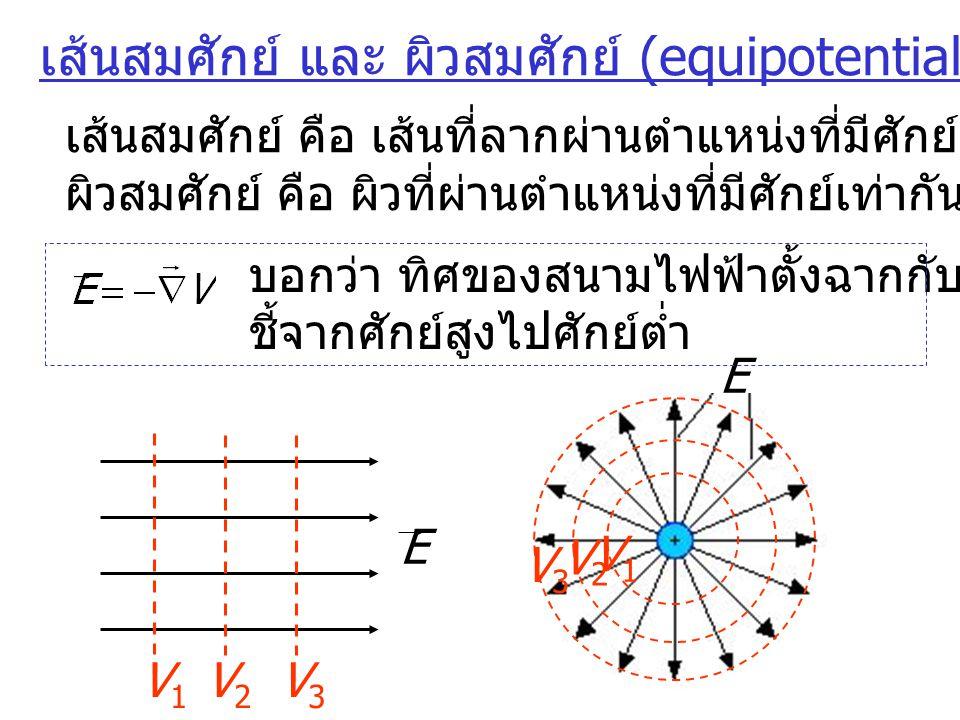 เส้นสมศักย์ และ ผิวสมศักย์ (equipotential line & surface)
