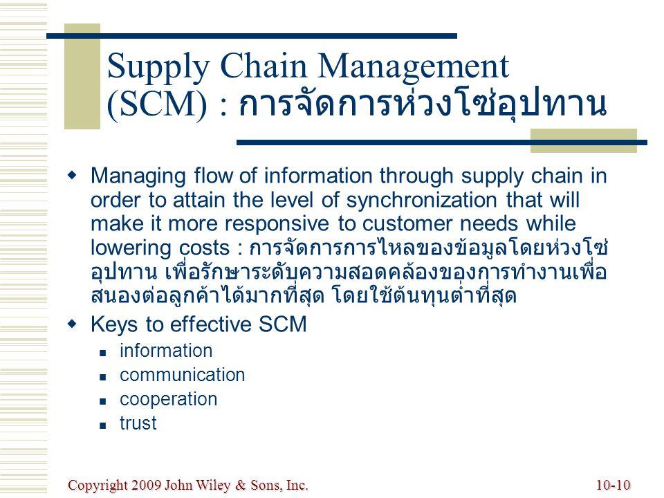 Supply Chain Management (SCM) : การจัดการห่วงโซ่อุปทาน
