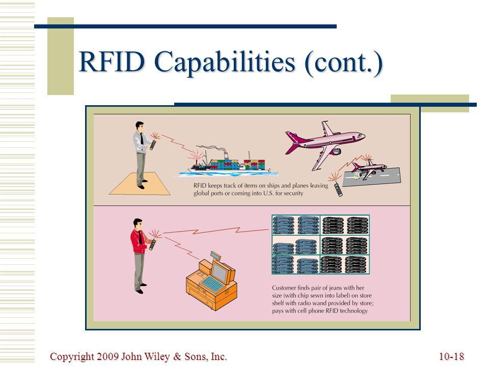 RFID Capabilities (cont.)