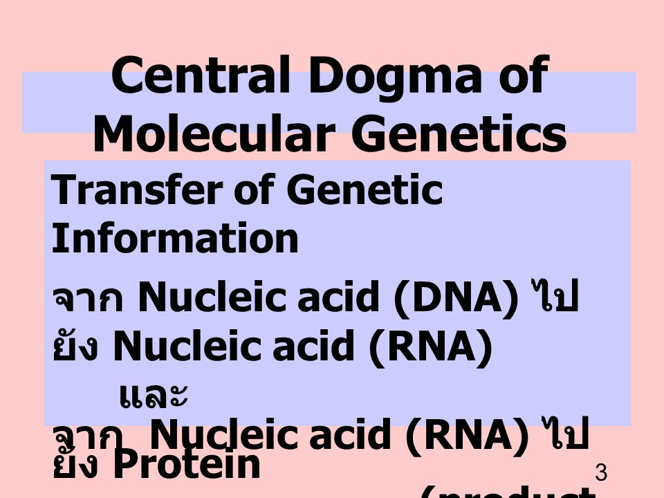 Central Dogma of Molecular Genetics