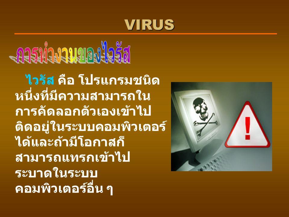 VIRUS การทำงานของไวรัส