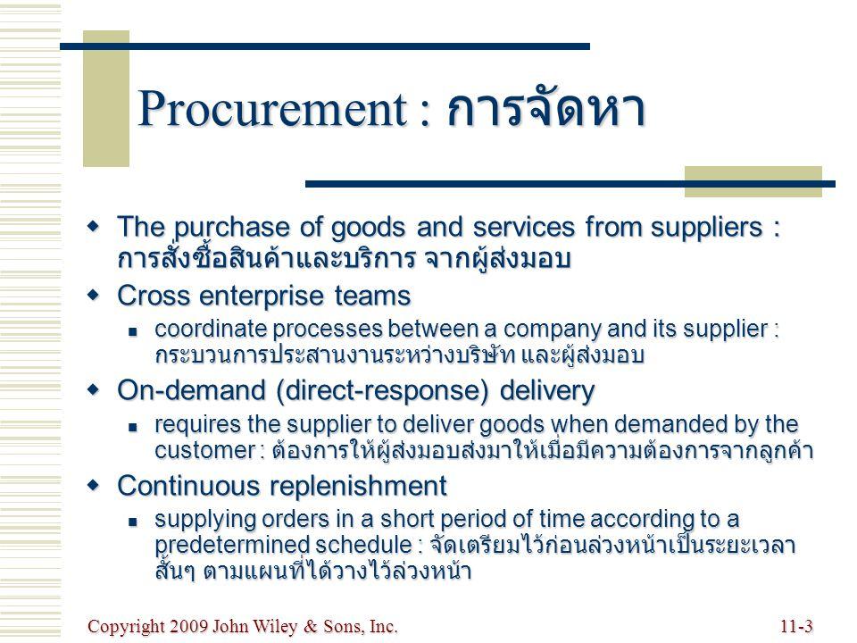 Procurement : การจัดหา