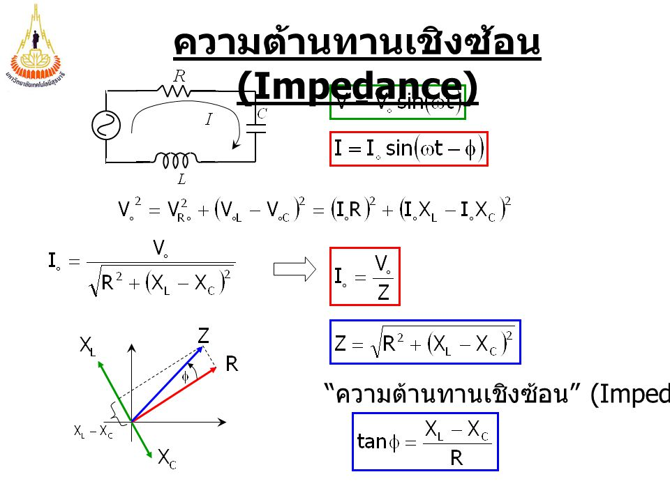 ความต้านทานเชิงซ้อน (Impedance)