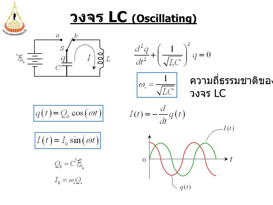 วงจร LC (Oscillating) ความถี่ธรรมชาติของ วงจร LC
