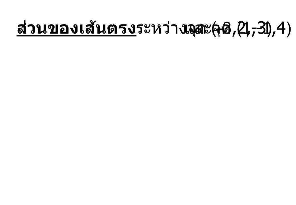 ส่วนของเส้นตรงระหว่างจุด (-3,2,-3)