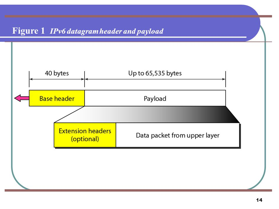 Figure 1 IPv6 datagram header and payload