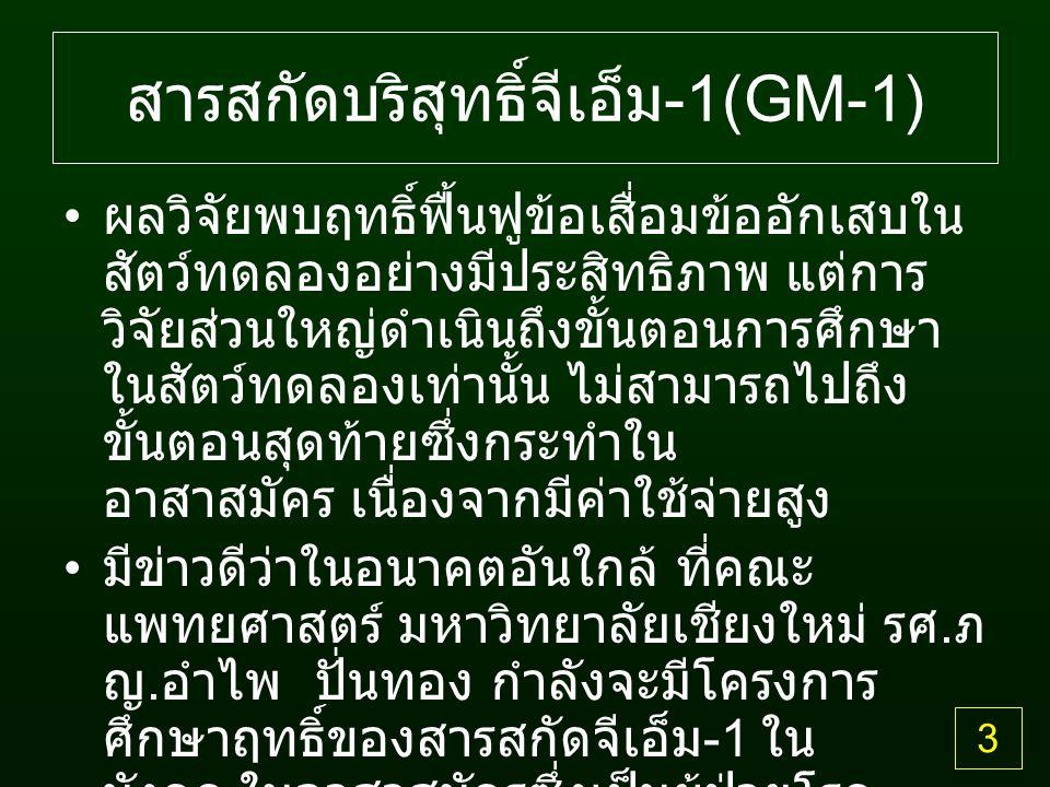 สารสกัดบริสุทธิ์จีเอ็ม-1(GM-1)