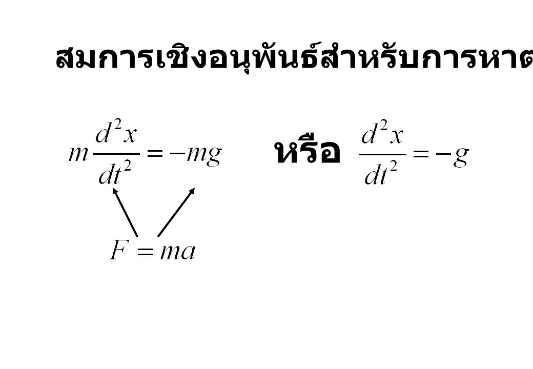 สมการเชิงอนุพันธ์สำหรับการหาตำแหน่งของวัตถุ