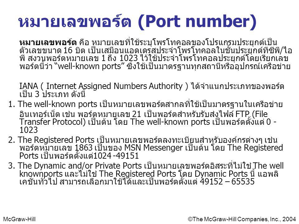 หมายเลขพอร์ต (Port number)