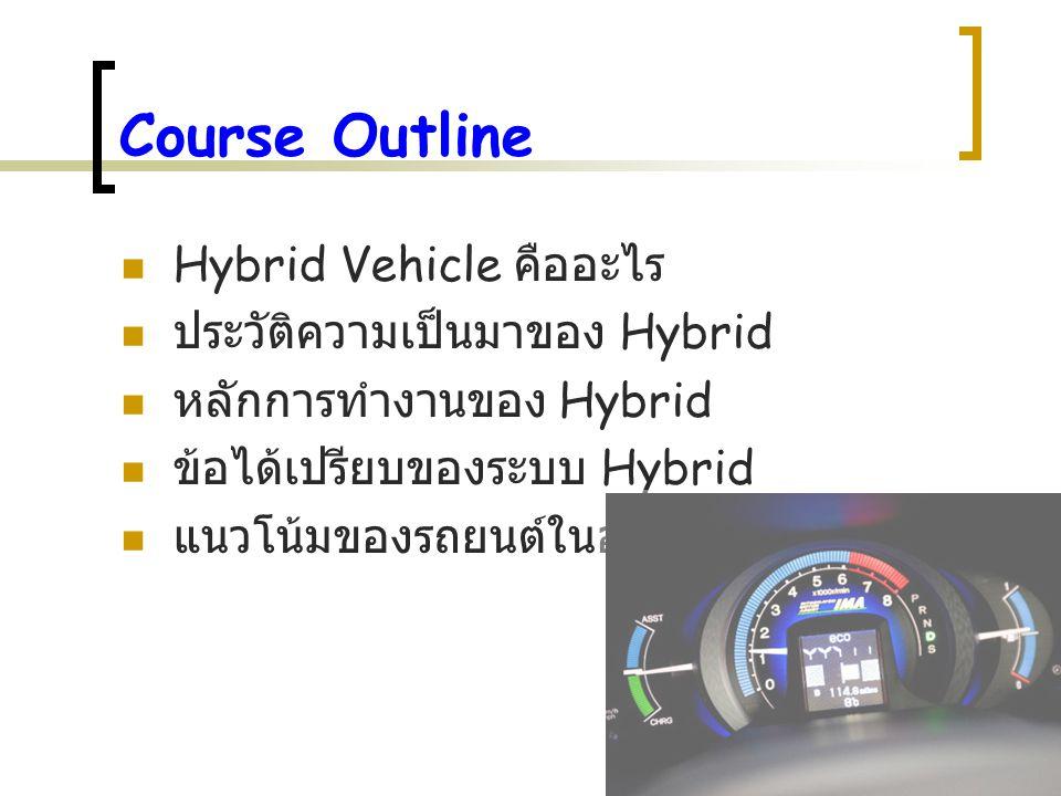 Course Outline Hybrid Vehicle คืออะไร ประวัติความเป็นมาของ Hybrid