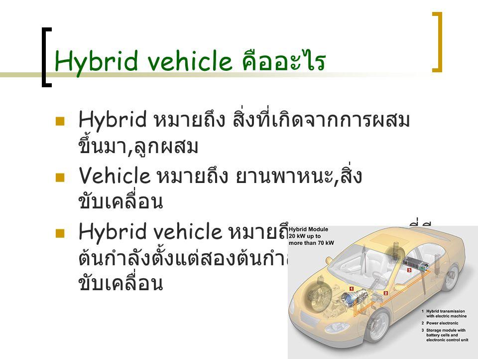 Hybrid vehicle คืออะไร