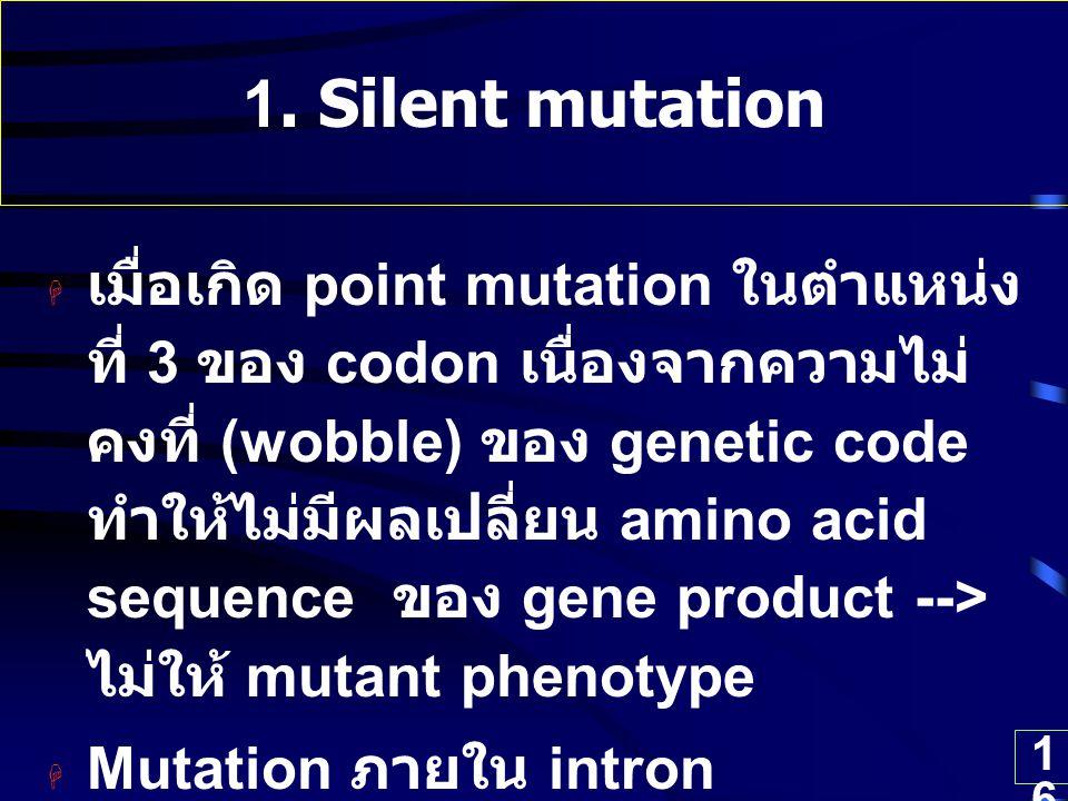 1. Silent mutation