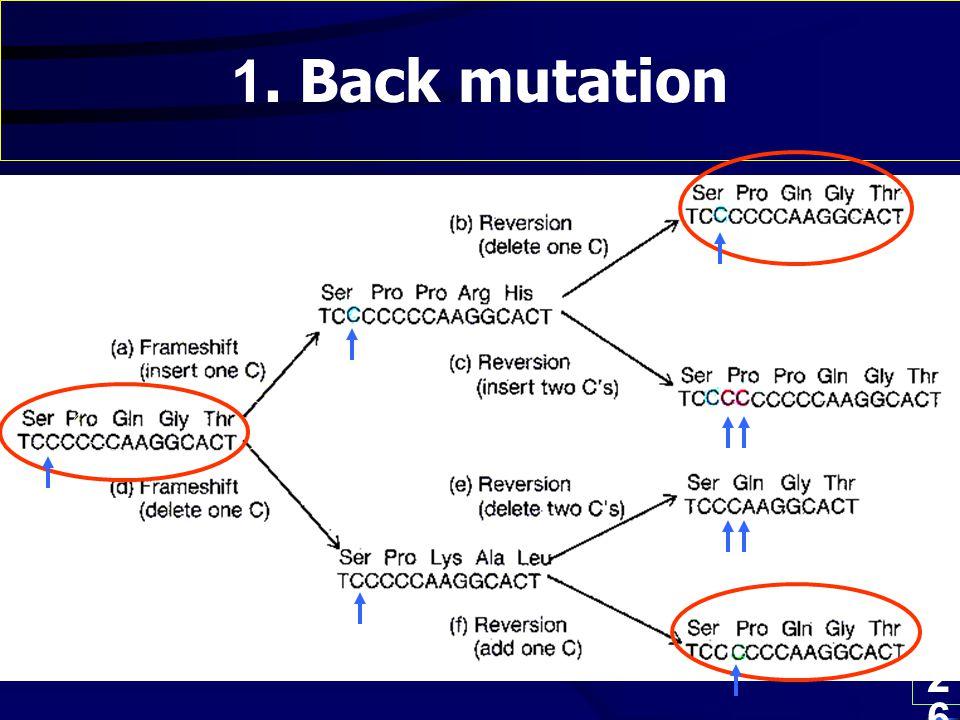 1. Back mutation