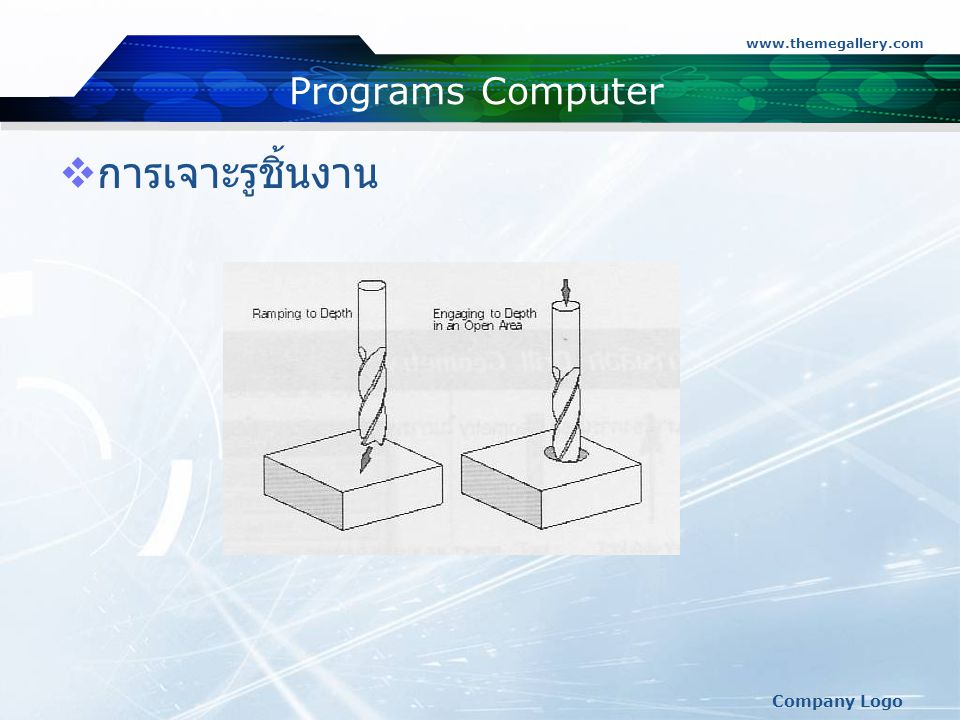 www.themegallery.com Programs Computer การเจาะรูชิ้นงาน Company Logo