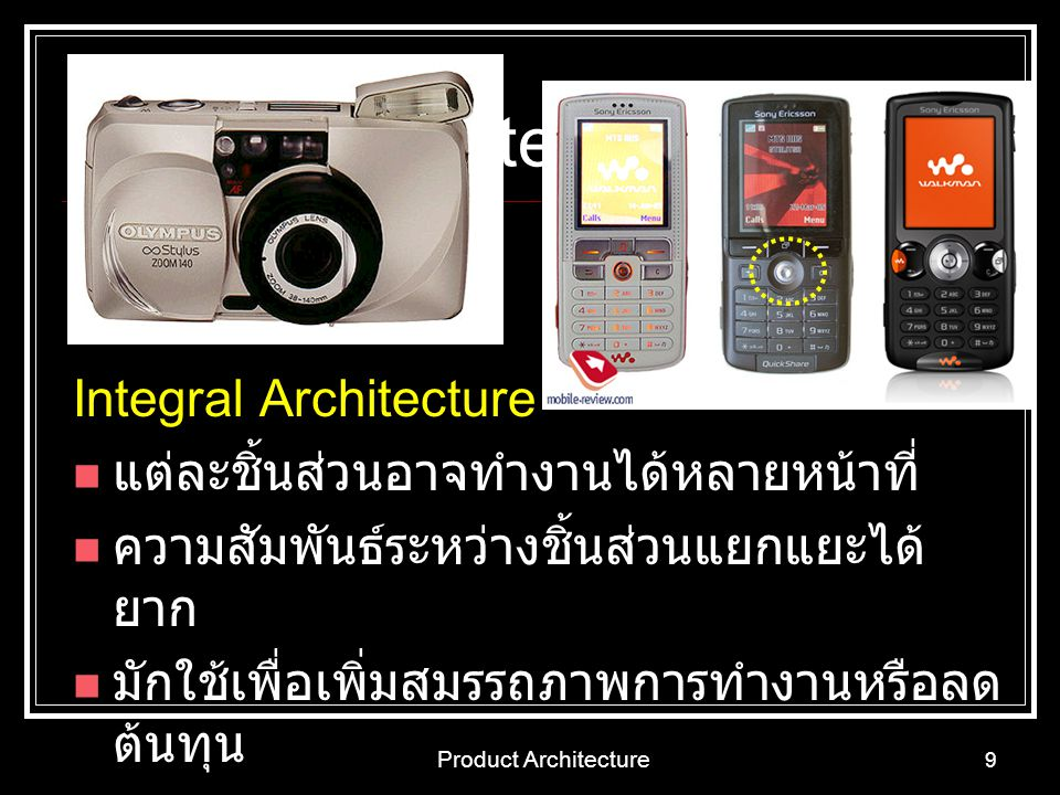Product Architecture Integral Architecture