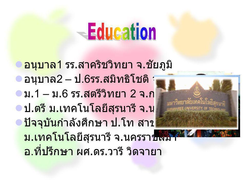 Education อนุบาล1 รร.สาคริชวิทยา จ.ชัยภูมิ