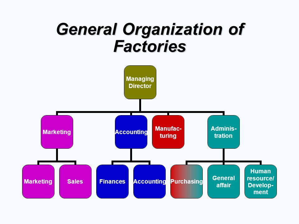 General Organization of Factories