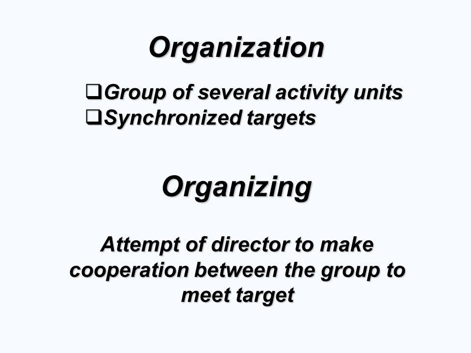 Organization Organizing