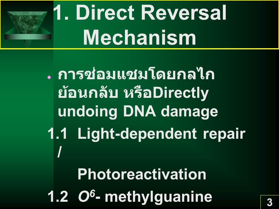 1. Direct Reversal Mechanism