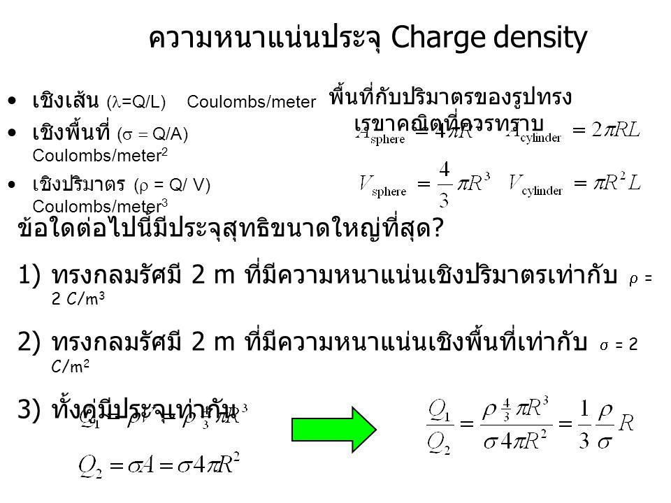 ความหนาแน่นประจุ Charge density