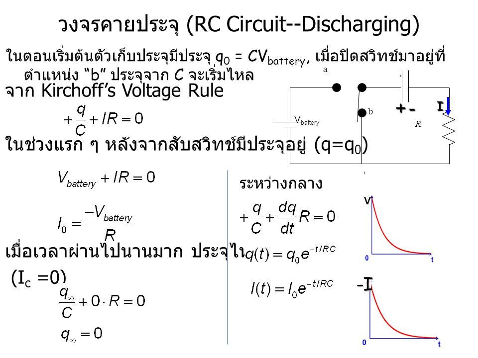 วงจรคายประจุ (RC Circuit--Discharging)